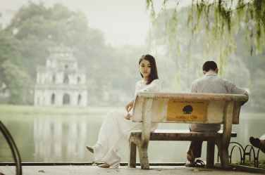 bench nature love people