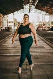 photo of woman doing tiptoe